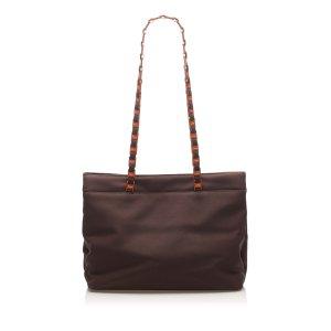 Ferragamo Tiered Grosgrain Chain Tote Bag