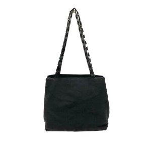 Ferragamo Vara Chain Nylon Shoulder Bag