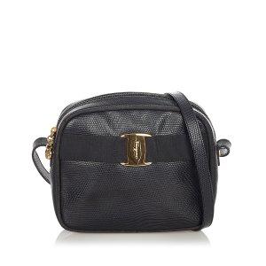 Ferragamo Vara Embossed Leather Crossbody Bag