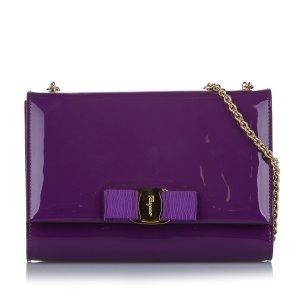 Ferragamo Vara Ginny Patent Leather Crossbody Bag