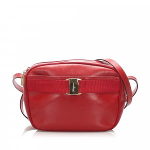 Ferragamo Vara Leather Crossbody Bag