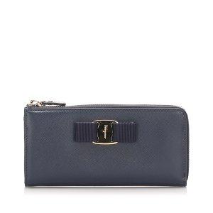 Ferragamo Vara Leather Long Wallet