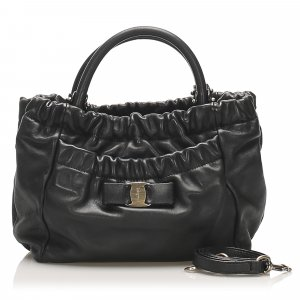 Ferragamo Vara Leather Satchel