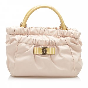 Ferragamo Satchel light pink leather