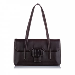 Ferragamo Vara Leather Shoulder Bag