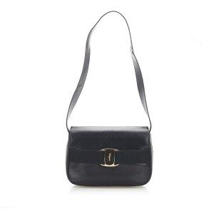 Ferragamo Vara Leather Shoulder Bag