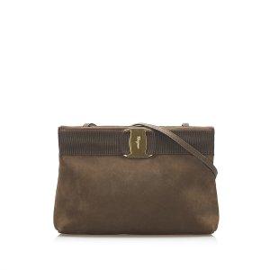 Ferragamo Vara Suede Crossbody Bag