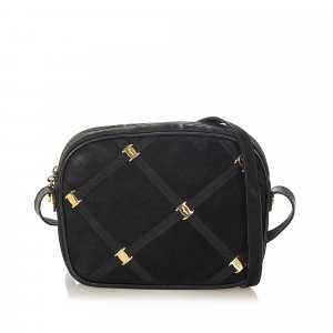 Ferragamo Vara Suede Leather Crossbody Bag
