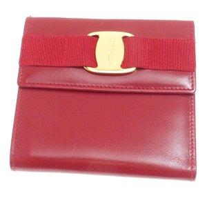 Ferragamo Vara Tri-Fold Leather Wallet