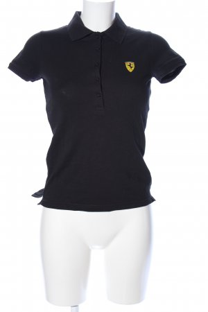 Ferrari Polo-Shirt schwarz Casual-Look