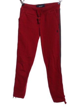 Ferrari Sporthose rot-schwarz Motivdruck Casual-Look