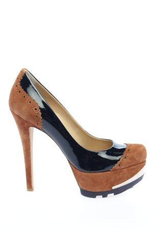 Fersengold High Heels braun-schwarz Casual-Look
