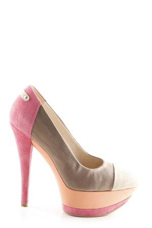 Fersengold High Heels mehrfarbig Casual-Look