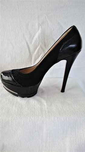 Fersengold High Heels Schwarz Casual-Look
