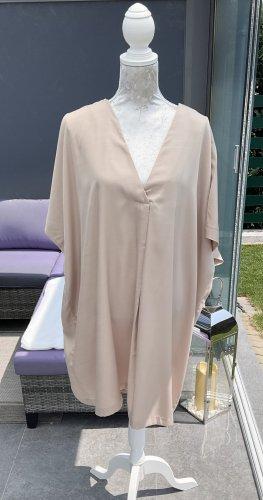 H&M Vestido tipo túnica beige-marrón arena