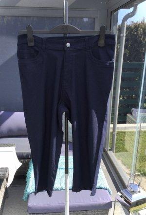 100% Fashion Pantalon 3/4 bleu foncé