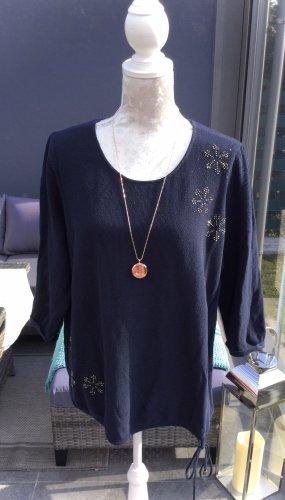 100% Fashion Oversized trui donkerblauw