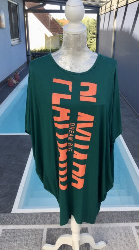 Misa Los Angeles Camicia lunga verde bosco-arancio neon