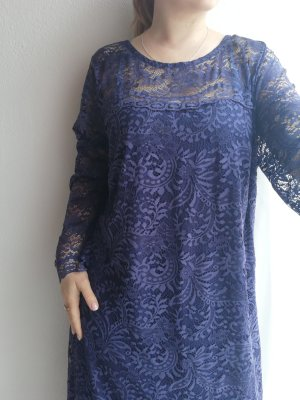 Anna Scholz for Sheego Lace Dress blue-dark blue