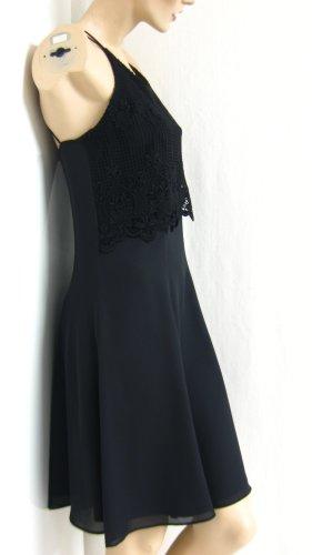 Robe avec jupon noir polyester