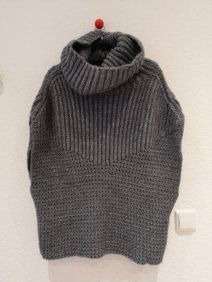 Stefanel Cardigan a maglia grossa grigio-grigio scuro Lana d'alpaca