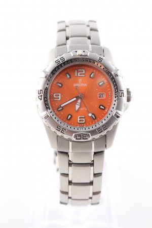 Festina Reloj analógico color plata-naranja claro estilo «business»