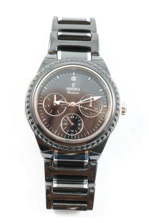 Festina Reloj con pulsera metálica negro-color plata look casual