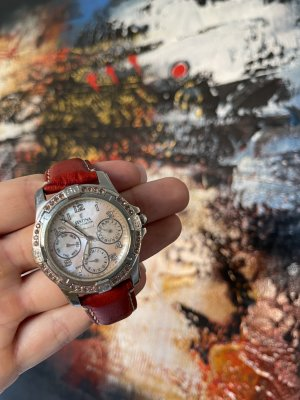 Festina Uhr Watch Armbanduhr Lederarmband