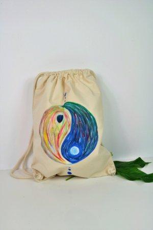 Festival Rucksack mit Ying Yang Malerei