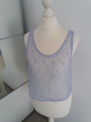 Festival Top Shirt Häkel blau lila 36 S