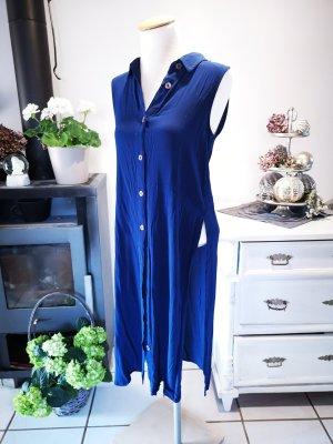 Festival-Tunikakleid von Mango Suit dunkelblau mit Knopfleiste Gr XS Tunika Kleid mit Schlitzen und Knopfleiste