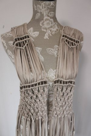 Amisu Fringed Vest multicolored