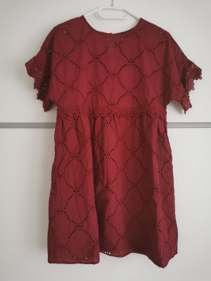 SheIn Lace Dress carmine