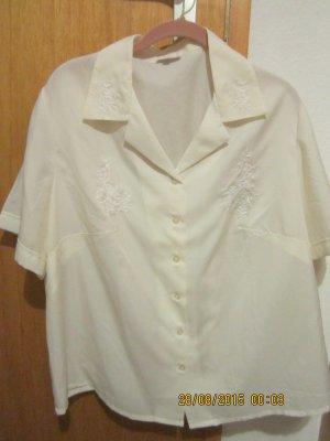Madeleine Blouse en soie blanc cassé crème tissu mixte