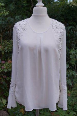 Alba Moda Slip-over Blouse natural white