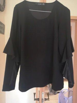 festliche Hallhuber Bluse schwarz Rüsche