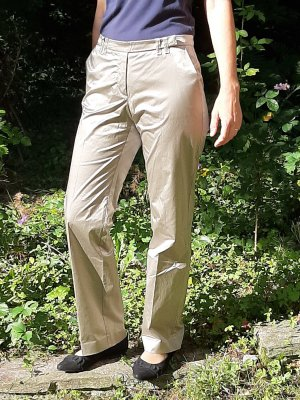 Marc Cain Jersey Pants gold-colored