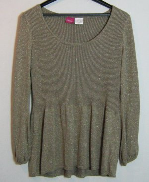Changes by Together Long Sweater gold-colored mixture fibre