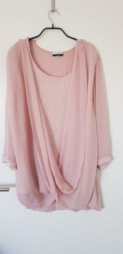 Guido Maria Kretschmer Wikkelblouse stoffig roze Polyester