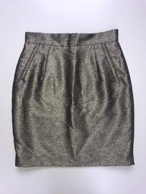 H&M Jupe taille haute doré