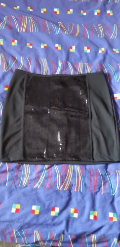 Blue Motion Spódnica ze stretchu czarny Elastan