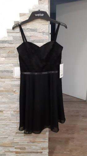 Weise Chiffon jurk zwart