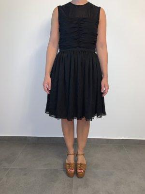 Festliches elegantes Seidenkleid von Sandro Gr. 38 schwarz