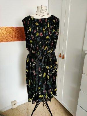 Festliches Fit & Flare Kleid, geblümt