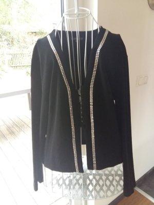 Burkhardt Veste chemise noir-argenté