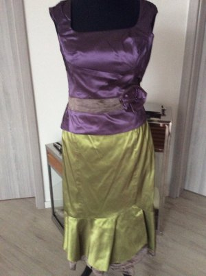 Vera Mont Abito a maniche corte viola scuro-verde oliva