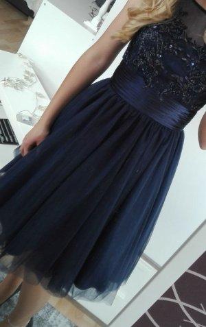 Vestido de lentejuelas azul oscuro Nailon