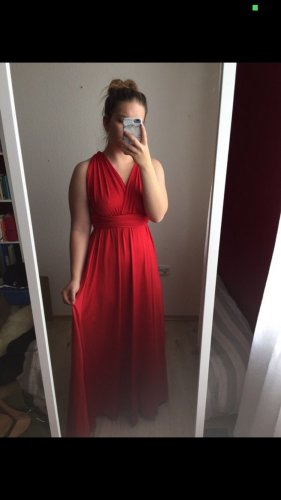 Robe de bal rouge clair-rouge
