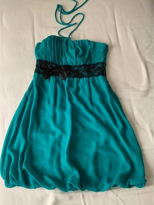 Vila Balloon Dress cadet blue-black