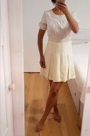 Made in Italy Sukienka z halką w kolorze białej wełny-kremowy